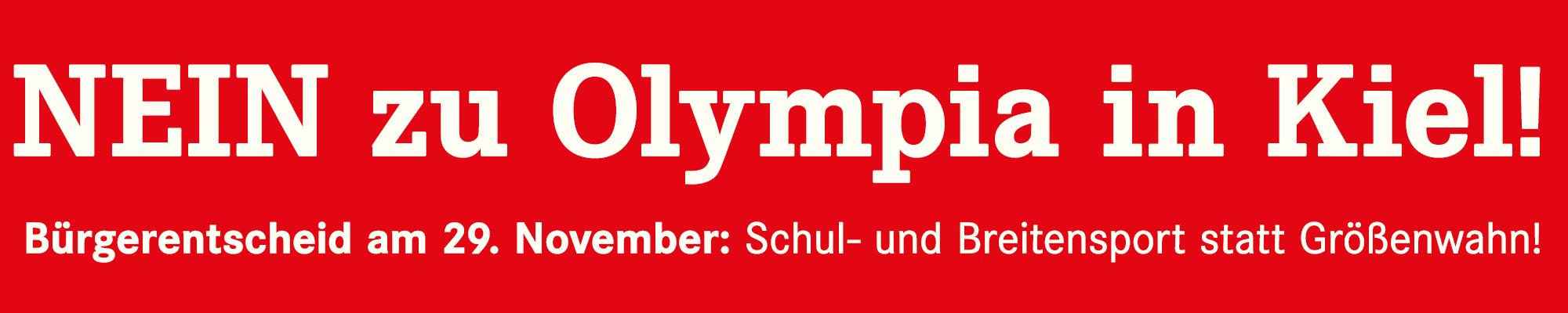 NEIN zu Olympia in Kiel!